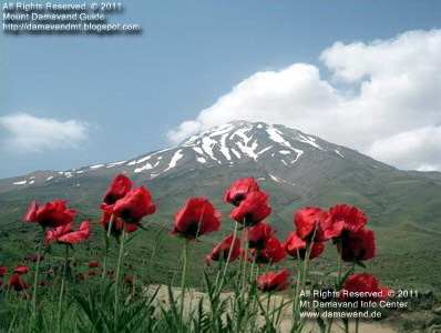 Damavand Volcano in Spring